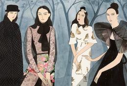 """意大利版《marie claire》雜志10月號主題插畫:""""SISTERS"""""""
