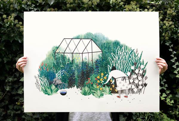 荷兰Liekeland工作室田园风格插画作品