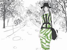 澳大利亞Kelly Smith時尚摩登女郎插畫設計欣賞