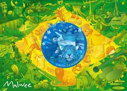 一组巴西国旗背景的文化插画分享