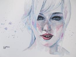 意大利Erica Dal Maso女性水彩肖像插画作品