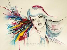 Mona Parvin水彩人物插画设计作品