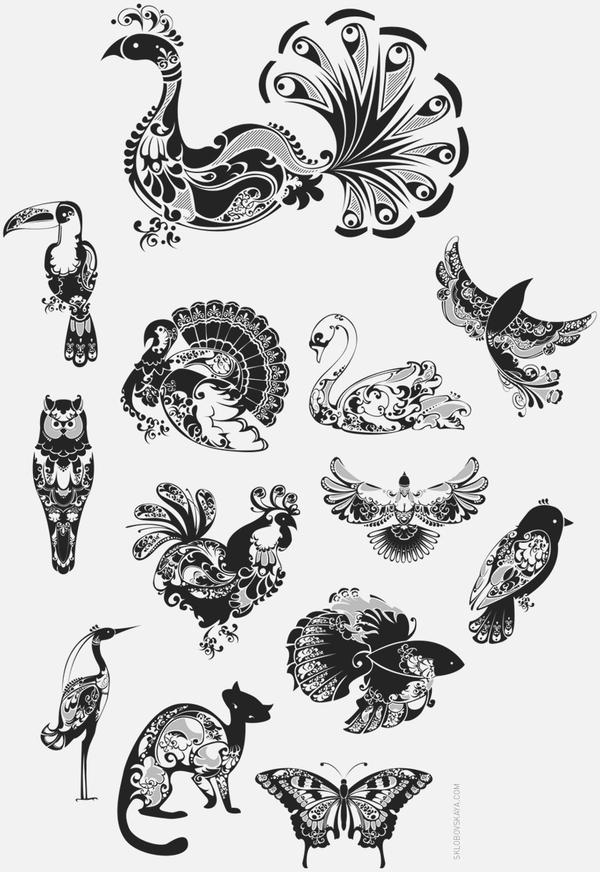 NatalieSklobovskaya插画设计作品