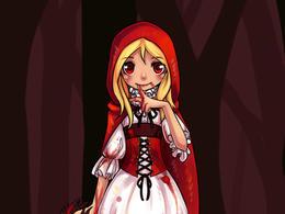 童話故事:小紅帽插畫作品