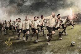 巴西科林蒂安足球俱乐部球星海报插画