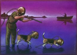 著名波兰艺术家PawelKuczynski插画作品