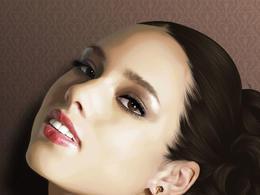 美丽的女性人物Vexel插画作品