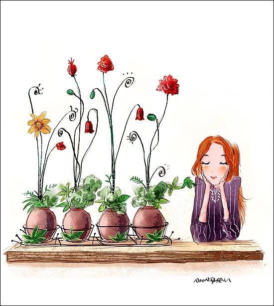 韩国插画师NoonSaram精美插画欣赏(二)