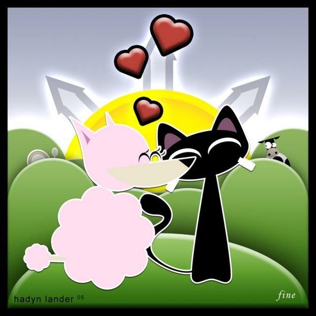 hadynlander可愛的卡通小貓
