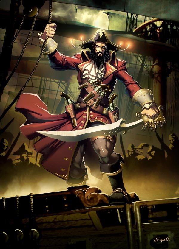 21張海盜題材插畫欣賞