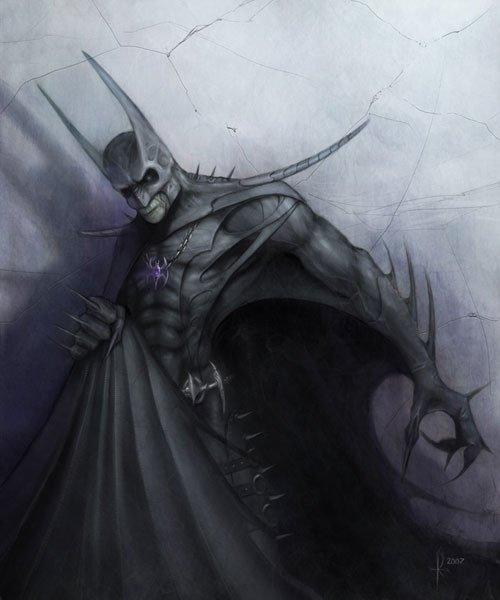 動漫英雄人物蝙蝠俠插畫欣賞