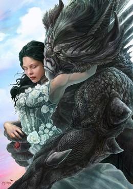 美女與野獸:30張漂亮的CG繪畫作品