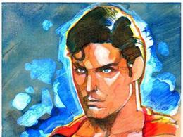 漫画英雄插画欣赏:超人