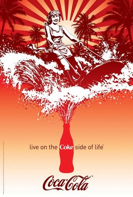 漂亮的可口可乐插画设计欣赏