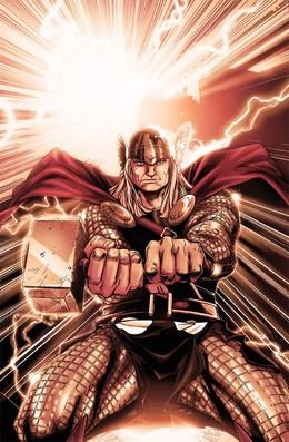 漫畫英雄人物插畫:雷神托爾MightyThor