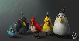 游戏插画欣赏:愤怒的小鸟
