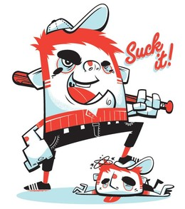 ChrisSandlin幽默插畫角色設計