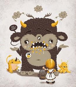 不同風格的怪獸插畫欣賞