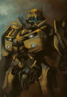 變形金剛人物插畫:大黃蜂