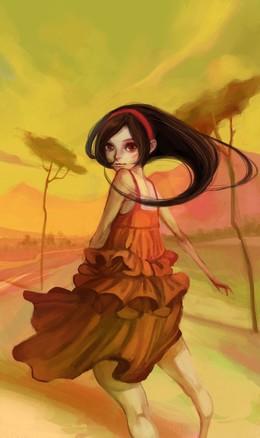 Joywong創意女孩角色插畫