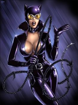動漫英雄人物:貓女俠(Catwoman)插畫