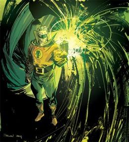 漫畫英雄人物插畫:綠燈俠(GreenLantern)
