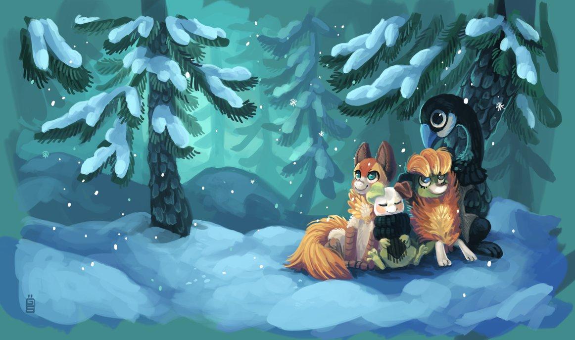 挪威藝術家Tina可愛的動物插畫欣賞