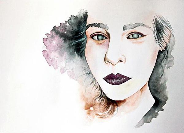 Valeria Marta Fonisto水彩肖像插画欣赏