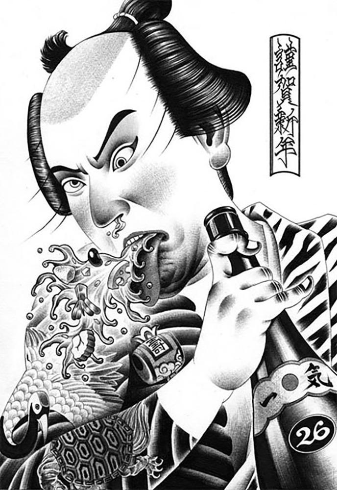 Shohei Otomo圆珠笔插画作品欣赏