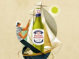 Nastro Azzurro啤酒创意插画欣赏