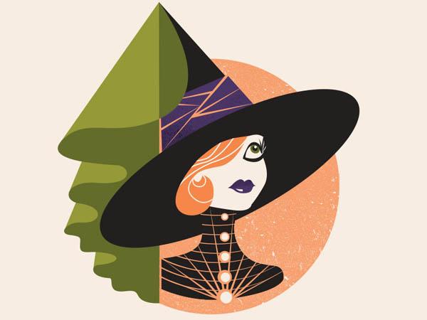20张女巫插画设计作品