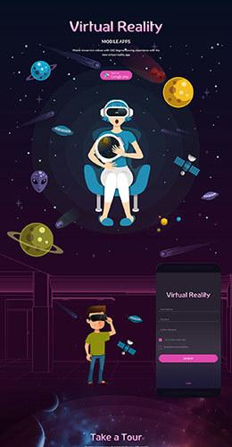 Virtual Reality应用程序 APP产品包装设计