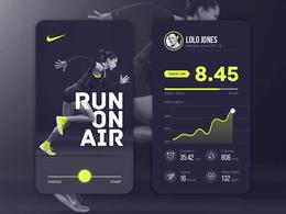 跑步APP界面UI設計