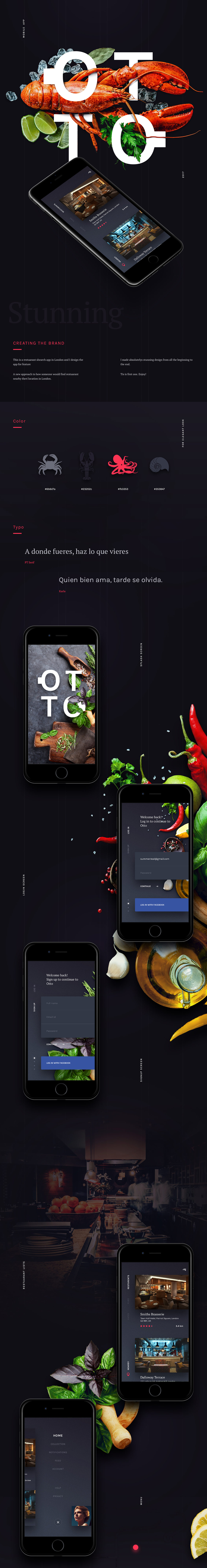 Otto餐厅美食APP手机包装设计