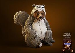 snickers士力架迷你裝系列創意平面廣告