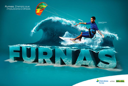 巴西FURNAS体育主题平面广告欣赏