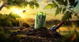 綠色版可口可樂Life戶外廣告欣賞