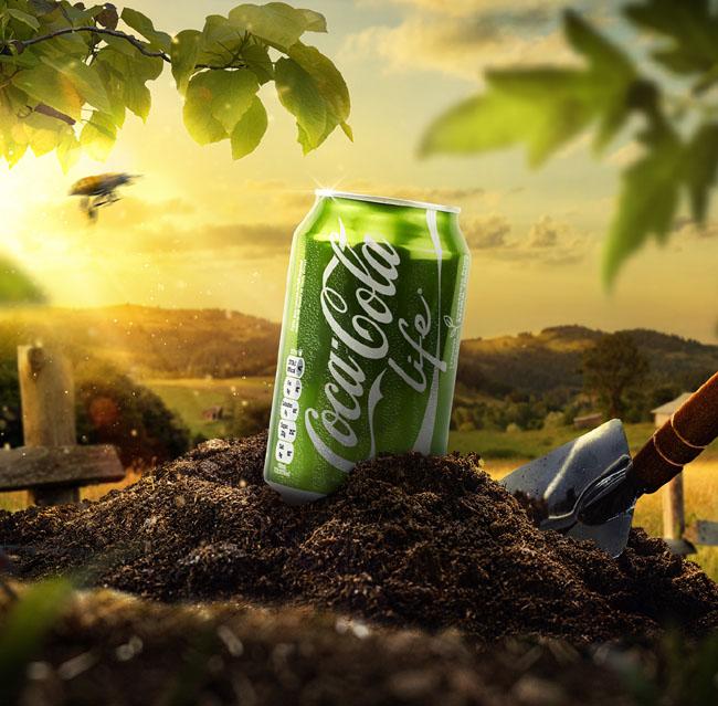 绿色版可口可乐Life户外广告欣赏