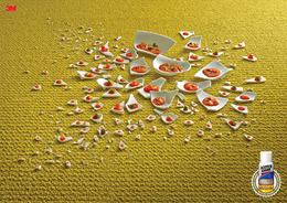 3M思高潔地毯防油污噴劑系列平面廣告