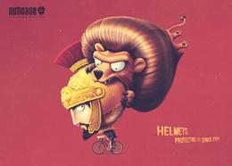 nutcase安全頭盔系列創意平面廣告欣賞