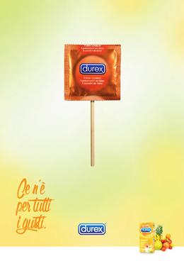 """杜蕾斯安全套""""熱帶水果""""系列創意平面廣告"""
