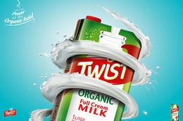 Twist牛奶系列平面廣告欣賞