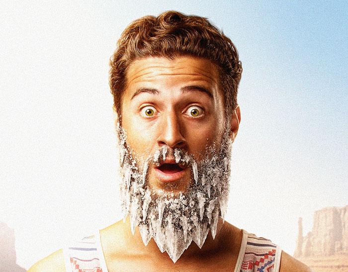 让胡须都结冰:Georgian mineral冰爽矿泉水系列创意广告