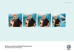德國大眾Volkswagen汽車警報系統系列創意廣告