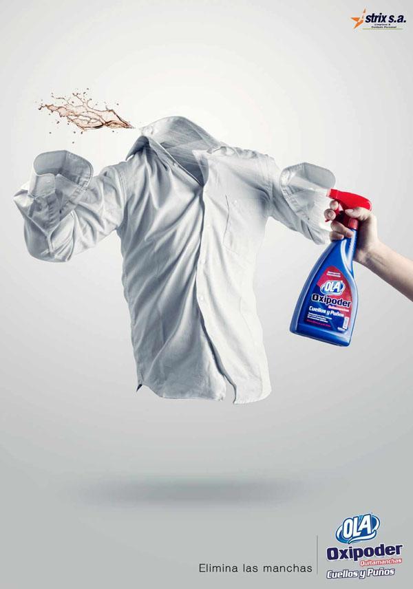 OLA去污剂系列创意广告欣赏