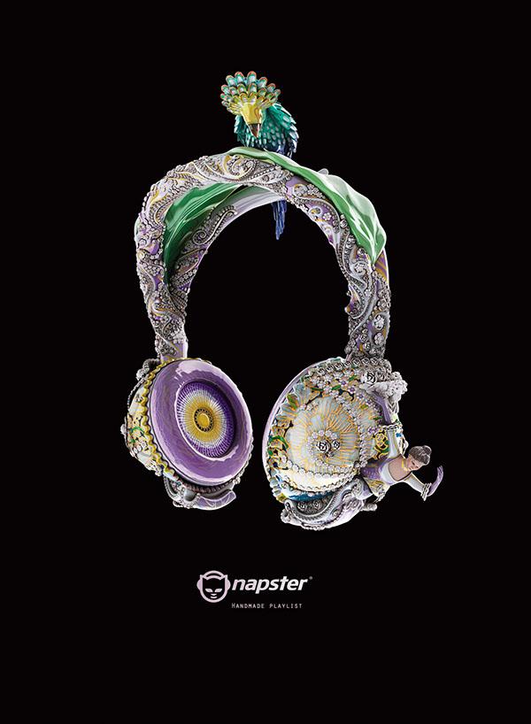 NAPSTER奢華耳機系列創意廣告欣賞