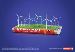 EVEREADY电池系列创意广告欣赏