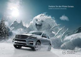 奔驰汽车创意广告:无惧雪路