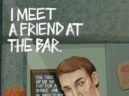 Mars Bar酒吧系列插画宣传广告欣赏