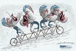 圣諾菲(Targifor)插畫廣告:饑餓讓你跟自己過不去